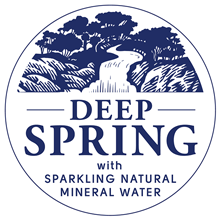 Deep Spring with natural sparkling water logo
