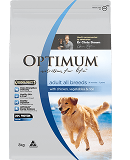 Optimum dog food