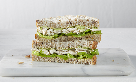 Coles Express Chicken and Avocado Sandwich with Lettuce and Multigrain bread