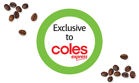 Exclusive to Coles Express Logo