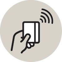 Contacless payment icon