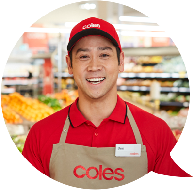Smiling Coles employee