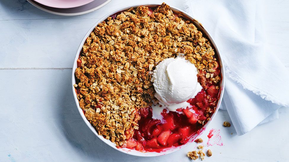 Rhubarb and apple crumble recipe | Coles