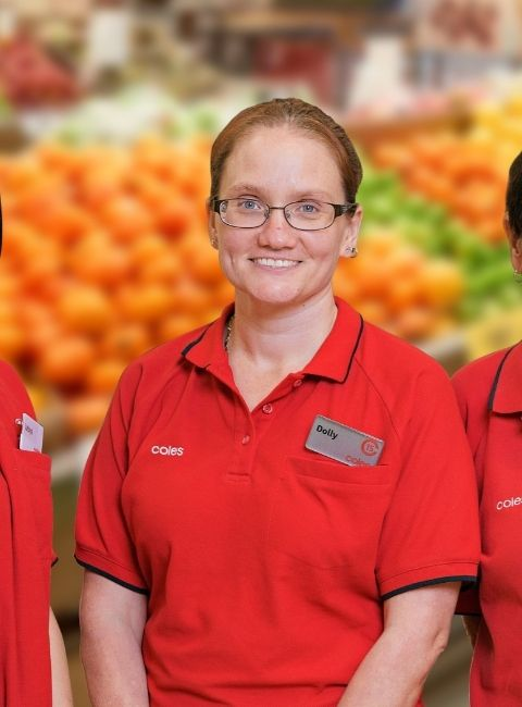 Coles staff member Dolly